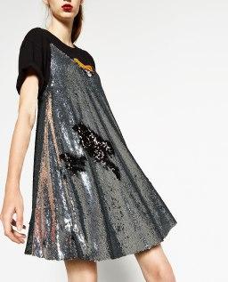 ZARA, robe à paillettes, 69.90 CHF
