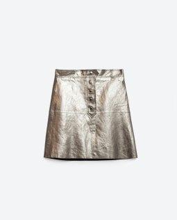 ZARA, jupe métalisée 79.90 CHF