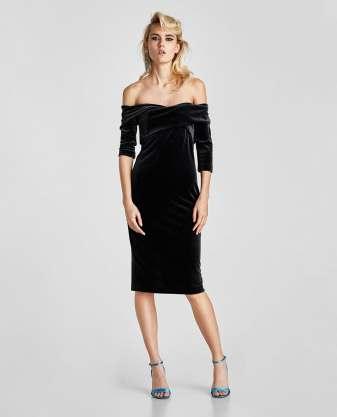 Zara, robe en velours, soldes, 29.95 CHF