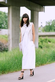 summer-white-dress-maxi-dress-moto-vest-black-ankle-strap-stacked-heel-sandals-work-summer-via-ania.b