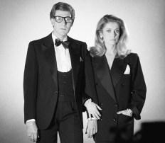 Yves Saint Laurent et Catherine Deneuve