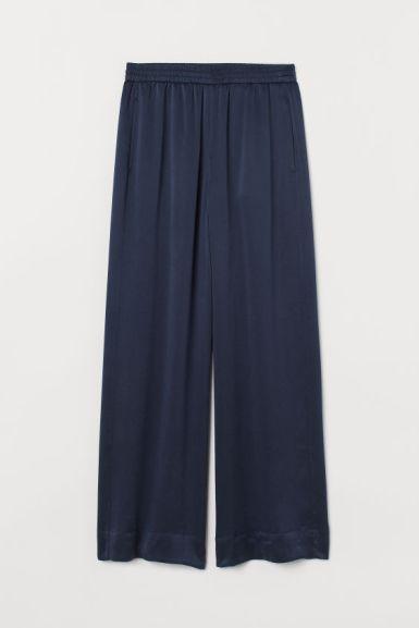 H&M, pantalons en soie